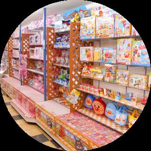 店内写真:知育 女児玩具コーナー