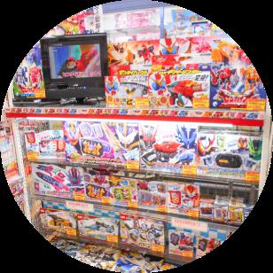 店内写真:男児キャラクター玩具コーナー